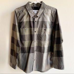 Burberry Boys Green Button Up Shirt